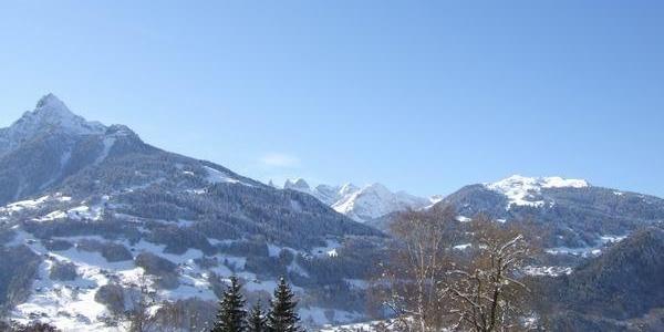 Ausblick Skigebiet Golm - Drei Türme