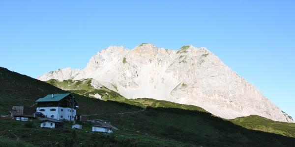 Blick zurück Richtung Pfeishütte und Gleirschtaler Brandjoch