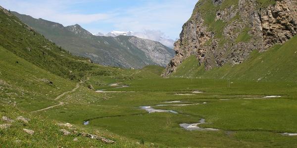 Etappe 3: Riedboda, Aufstieg von Vals aus