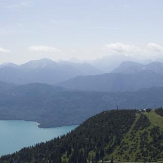 Panoramablick vom Herzogstand.