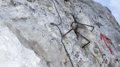 Der Felix-Kuen-Klettersteig ist kurz, aber ausgesetzt.