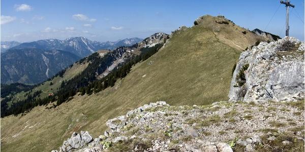 Gipfelblick von der Käserwand zum Wildalpjoch