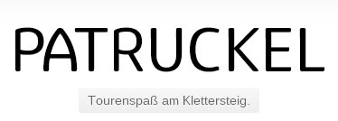 Logo Patruckel - Spaß am Klettersteig
