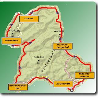 Übersichtsbild Mountainbike Tour