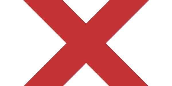 Wegmarkierung Rotes X