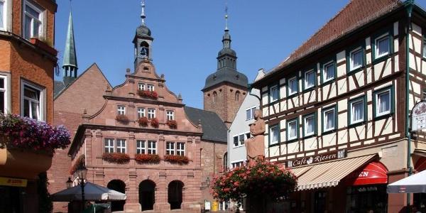Altes Rathaus am Marktplatz in Buchen (Odenwald)