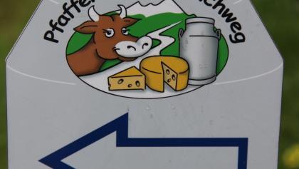 Beschilderung des Pfaffenwinkler Milchweges