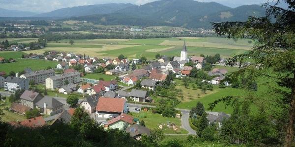 Ausblick auf St. Margarethen bei Knittelfeld