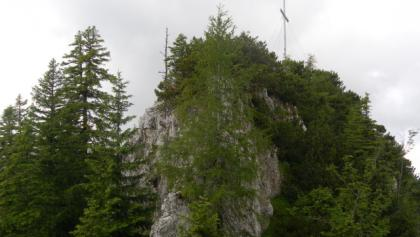 Gipfelaufbau, Anstieg von links