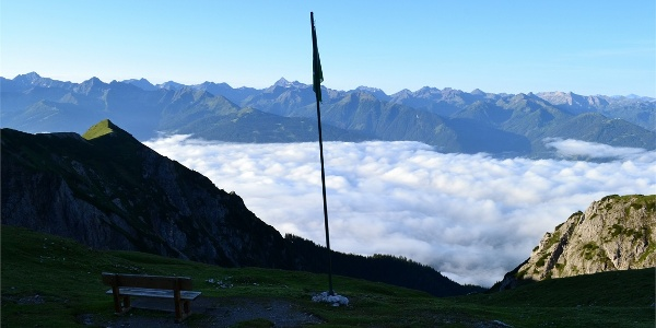 Wenn man in der Früh aufsteht und das Wolkenmeer im Tal entdeckt...