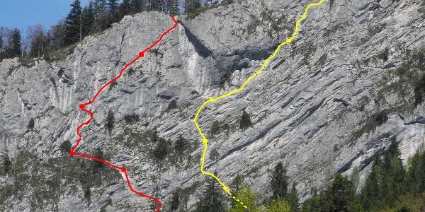 Routenverlauf - gelb:Gelobtes Land  - rot:Atemlos