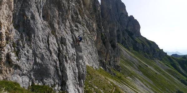 Einstieg - Klettersteig