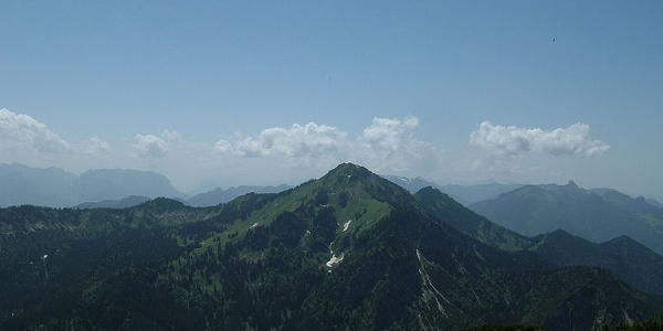 Der Hochgern vom Gipfel des Hochfelln