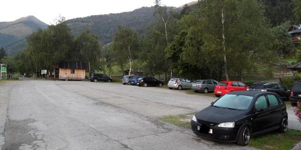 Parkplatz in Donnersbachwald