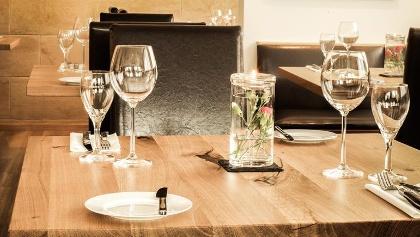Gedckter Tisch im Restaurant