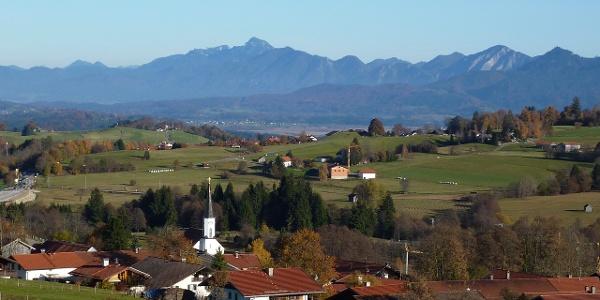 Radtour Saulgrub Rundtour - Blick auf Bad Kohlgrub