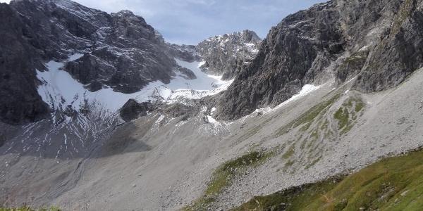 Blick in das Nord-Ost Kar der Braunarlspitze