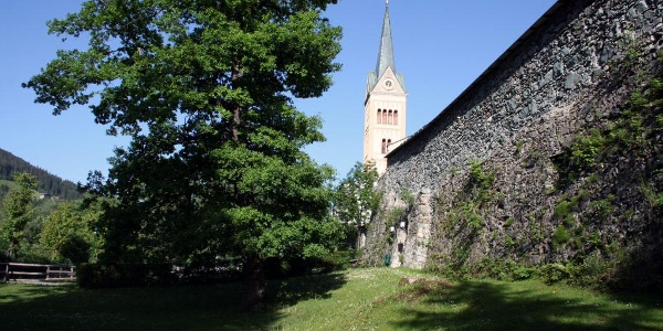 city walls with steeple