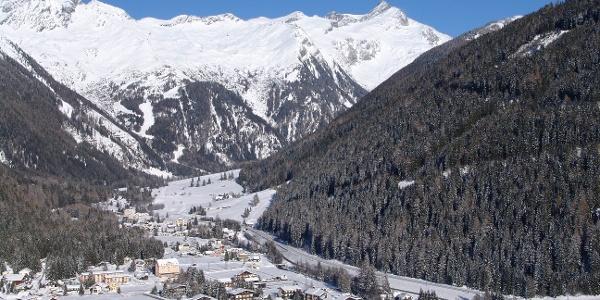Blick über Mallnitz ins Seebachtal