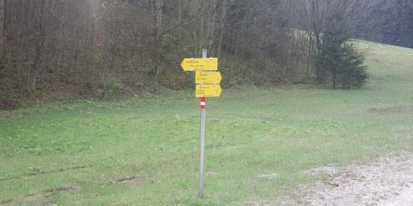 Abzweigung vom Kaisersteig