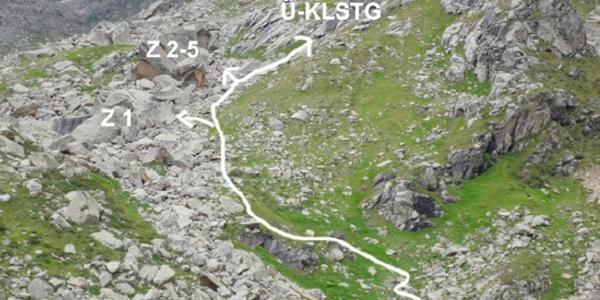 Der Weg zum Klettergarten