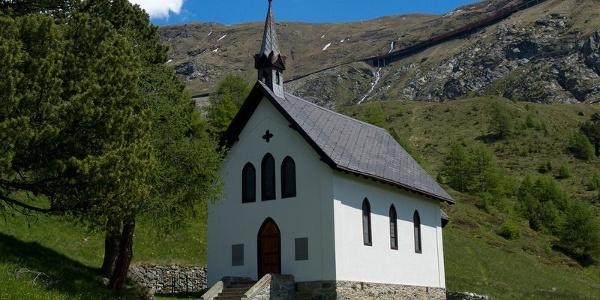 The chapel stands a short way from Zermatt's Riffelalp Resort hotel.