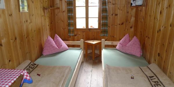 Zimmer auf der Comptonhütte