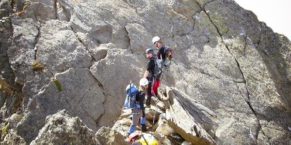 Klettersteig am Gipfelkamm