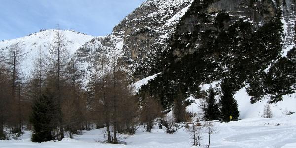 Im Talboden am Beginn der Tour