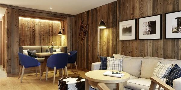 Deluxe Zimmer, Wohnraum,  Löwen Hotel Montafon