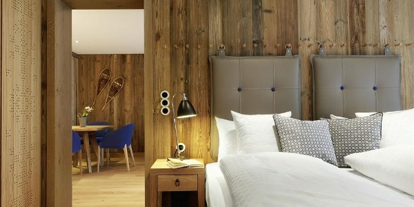 Deluxe Zimmer, Schlafzimmer, Löwen Hotel Montafon