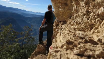 Giro delle Cime. Tratto Plon-Aiseli. Panorama sulla Val d'Adige