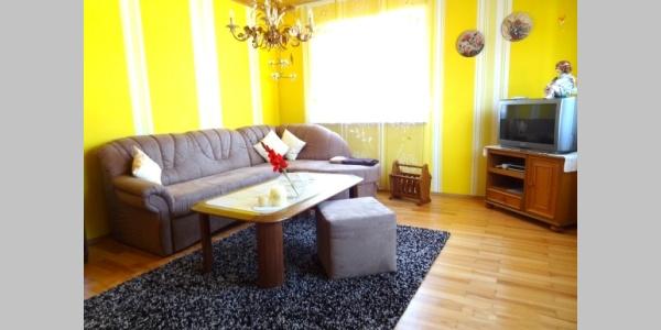 Wohnzimmer in der großen Wohnung