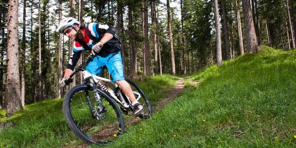 Biker im Lenzerheidnerwald