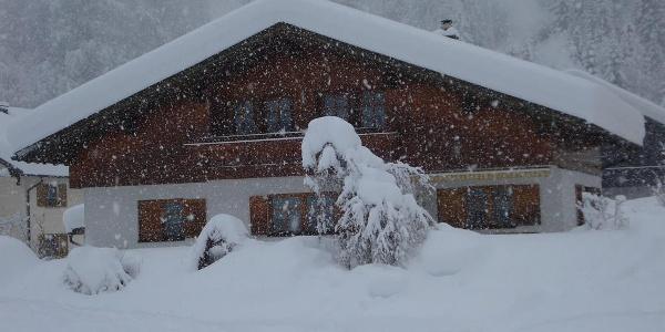 Haus Munz im Winter