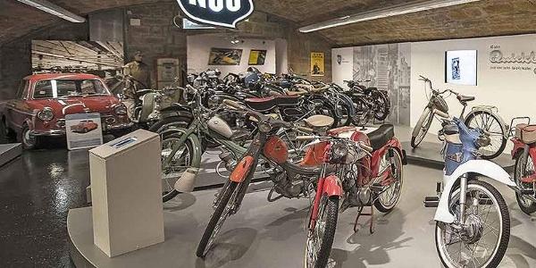 Oldtimer-Typen und Marken, die viele junge Motorradfahrer heute nicht mehr kennen. Im Deutschen Zweirad und NSU-Museum Neckarsulm werden sie bewahrt.