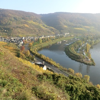 Looking over to Senheim with habour