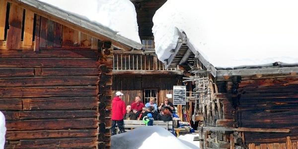 der urige Berggasthof Lazins