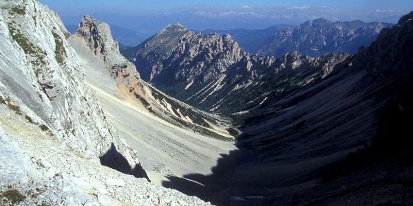 Blick nach Norden - zum Alpenhauptkamm