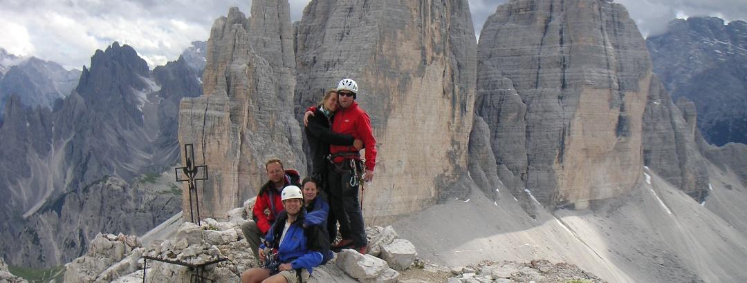 Gipfelfläche des Paternkofel, mit 3 Zinnen