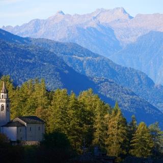 Kirche im Bergell