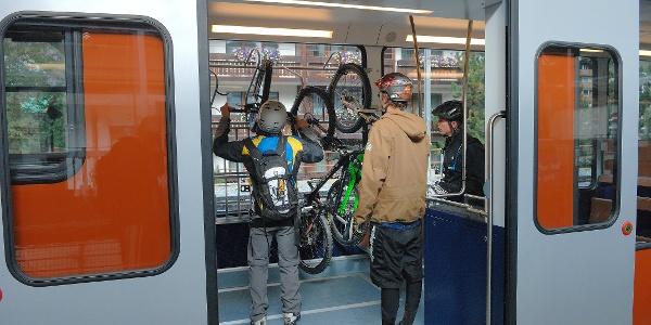 Fahrt mit der Gornergrat Bahn zum Ausgangspunkt