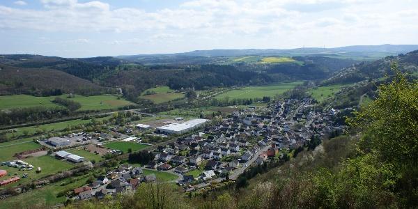 Blick übers Nahetal bei Kirn-Sulzbach