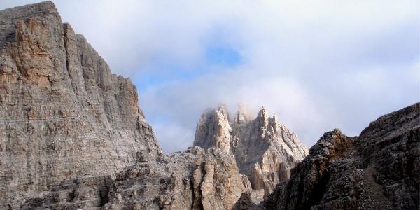 Grat 2890 m erreicht, Blick nach Norden
